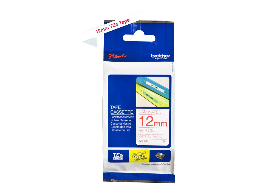 Brother TZe-232 - laminated tape - 1 roll(s) - Roll (1.2 cm x 8 m)