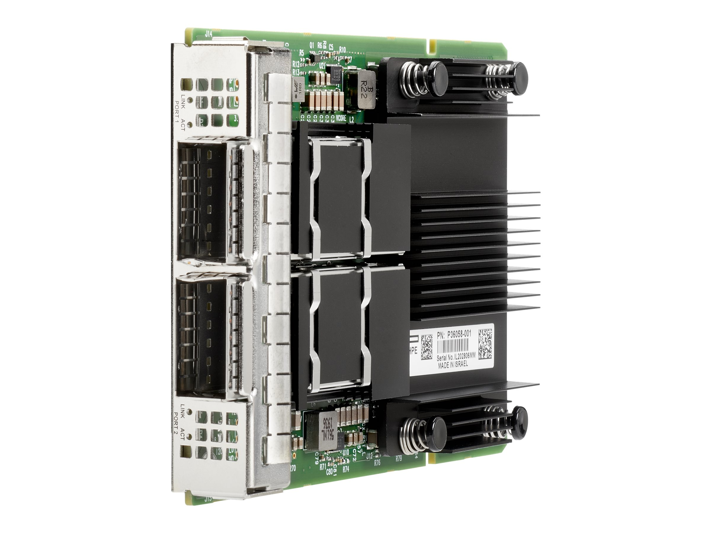 HPE InfiniBand HDR MCX653436A-HDAI - network adapter - PCIe 4.0 x16 - 200Gb Ethernet / 200Gb Infiniband QSFP56 x 2
