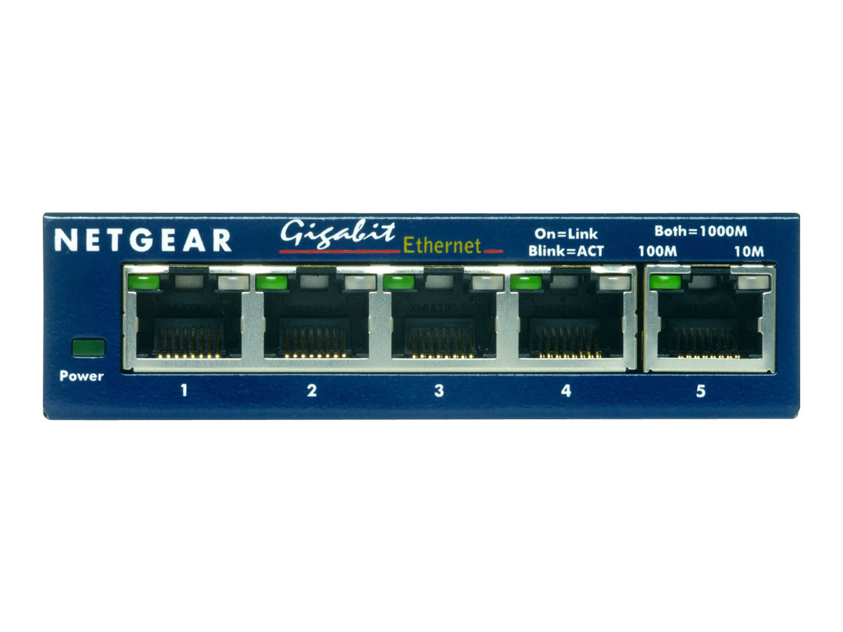 NETGEAR ProSAFE GS105 - Switch - 5 x 10/100/1000 - Desktop