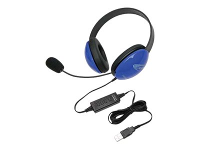 Califone Listening First Stereo Headset 2800BL-USB Headset full size wired blue