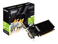 MSI GT 710 1GD3H LP - Graphics card - GF GT 710 - 1 GB DDR3 - PCIe 2.0 x16 low profile - DVI, D-Sub, HDMI