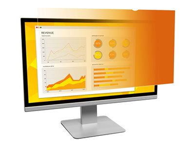 3M Gold Privacy Filter for 24INCH Monitors 16:9 Display privacy filter 24INCH wide blac