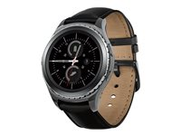 Samsung Gear S2 Classic 44 mm black smart watch with band leather black