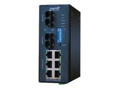 Transition Networks Managed Redundant Industrial Switch Extended Operating Temperature Switch
