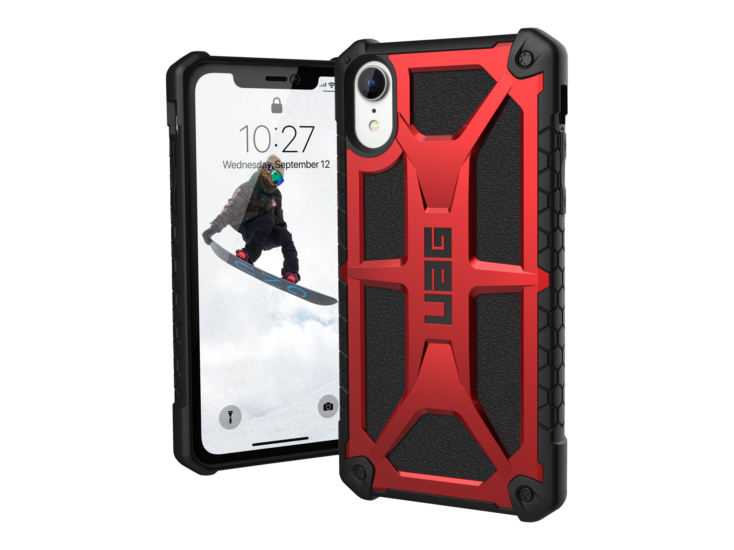 UAG Rugged Case for iPhone XR [6.1-inch screen] - Monarch Crimson - back cover for cell phone