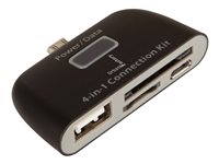 Urban Factory Card Reader 4 in 1 for micro USB, input: SD, SDHC, Memory Stick, Multimedia Card, Tra