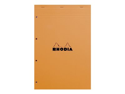 Blocs & Porte blocs RHODIA Basics - Bloc notes - A4 - 160 pages - quadrillé - 5x5 - 4 trous - perforé