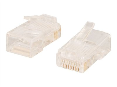 C2G Network connector RJ-45 (M) transparent (pack of 50)