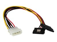StarTech.com 12in LP4 to 2x Latching SATA Power Y Cable Splitter Adapter