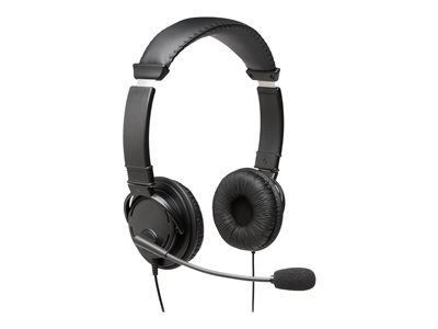 Kensington USB Hi-Fi Headphones with Mic Headset on-ear wired black