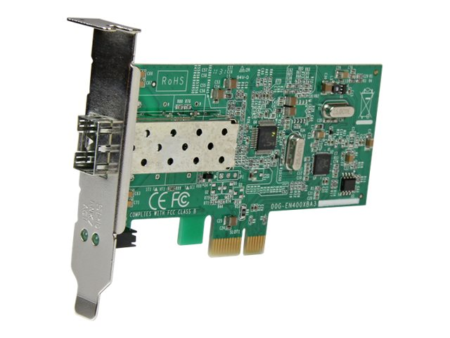 StarTech.com PCI Express 10/100 Mbps Ethernet Fiber SFP PCIe Network Card Adapter NIC - network adapter - PCIe