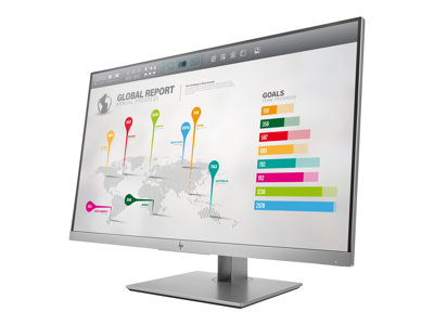 HP EliteDisplay E273q 27' 2560 x 1440 VGA (HD-15) HDMI DisplayPort 60Hz Pivot Skærm