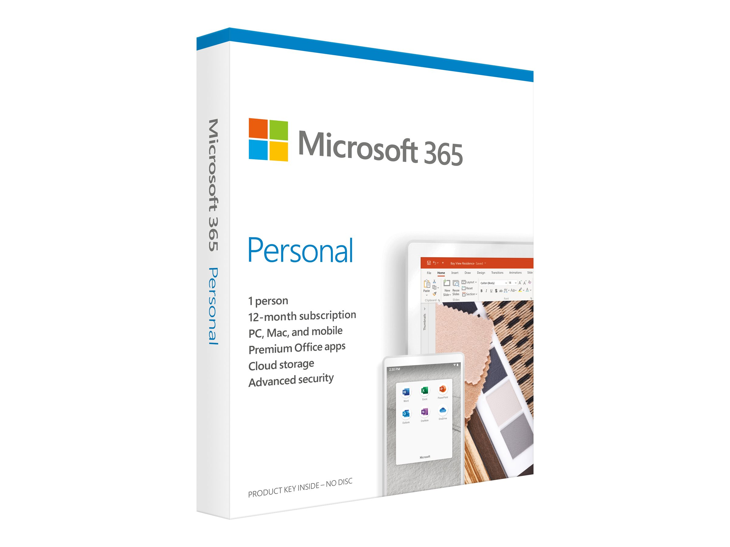 Microsoft 365 Single - Box-Pack (15 Monate) - 1 Person - ohne Medien, P6, ExtraTime - Win, Mac, Android, iOS - Französisch