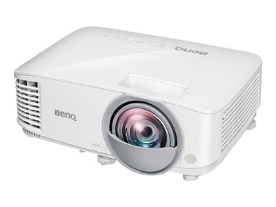 BenQ MX825ST - DLP projector - portable - 3D - 3300 ANSI lumens - XGA (1024 x 768) - 4:3 - short-throw fixed lens - LAN