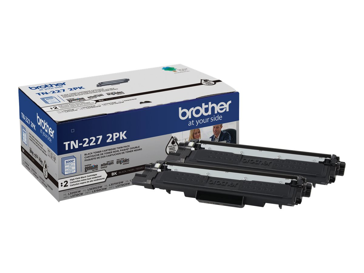 Brother TN-227 2PK - 2-pack - High Yield - black - original - toner cartridge