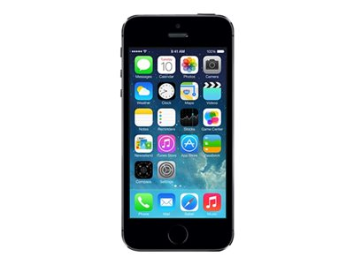Apple iPhone 5s - gris - 4G LTE - 16 Go - GSM - smartphone reconditionné
