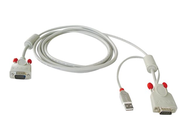 Lindy 2M 1 x USB Type A Male and 1 x HD15 Male to 1 x HD15 Male Combined KVM Cable for U Series KVM Switches