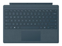 Microsoft Surface Pro Signature Type Cover - Keyboard - with trackpad, accelerometer - backlit - English - North American layout - cobalt blue - commercial - for Surface Pro (Mid 2017), Pro 3, Pro 4