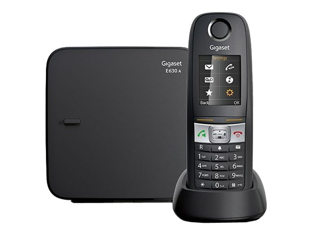 Image of Gigaset E360A - cordless phone - answering system with caller ID
