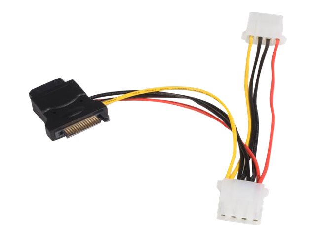 StarTech.com SATA to LP4 Power Cable Adapter with 2 Additional LP4 - Power adapter - 4 pin internal power (F) to SATA p…