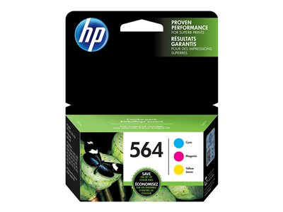 HP 564 Combo Pack 3-pack yellow, cyan, magenta original ink cartridge
