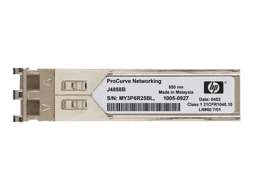 HPE X120 - SFP (Mini-GBIC)-Transceiver-Modul - Gigabit Ethernet - 1000Base-LX - LC - für HP 3100; HPE 10512, 12504, 1910, 3100, 3600, 5500, 5920, 7506; FlexFabric 1.92, 11908