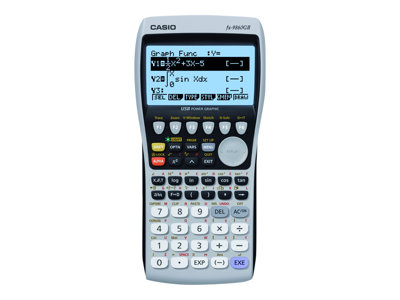 Casio FX-9860GII Graphing calculator USB 10 digits + 2 exponents battery