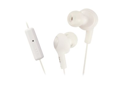 JVC HA-FR6 Gumy PLUS Earphones with mic in-ear wired noise isolating coconu