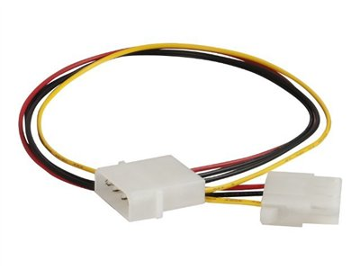 C2G Power extension cable 4 pin internal power (M) to 4 pin internal power (F) 1.2 ft