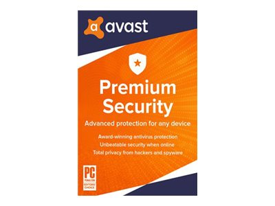 Avast Premium Security 2020 Subscription license (1 year) 5 devices ESD