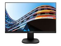 "Philips S-line 223S7EJMB - Écran LED - 22"" (21.5"" visualisable) - 1920 x 1080 Full HD (1080p) - IPS - 250 cd/m² - 1000:1 - 5 ms - HDMI, VGA, DisplayPort - haut-parleurs - noir, noir texturé"