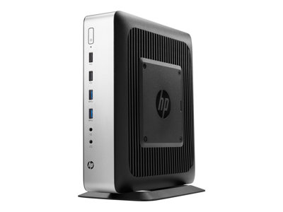 HP t730 Thin client tower 1 x R-series RX427BB / 2.7 GHz RAM 8 GB flash 64 GB