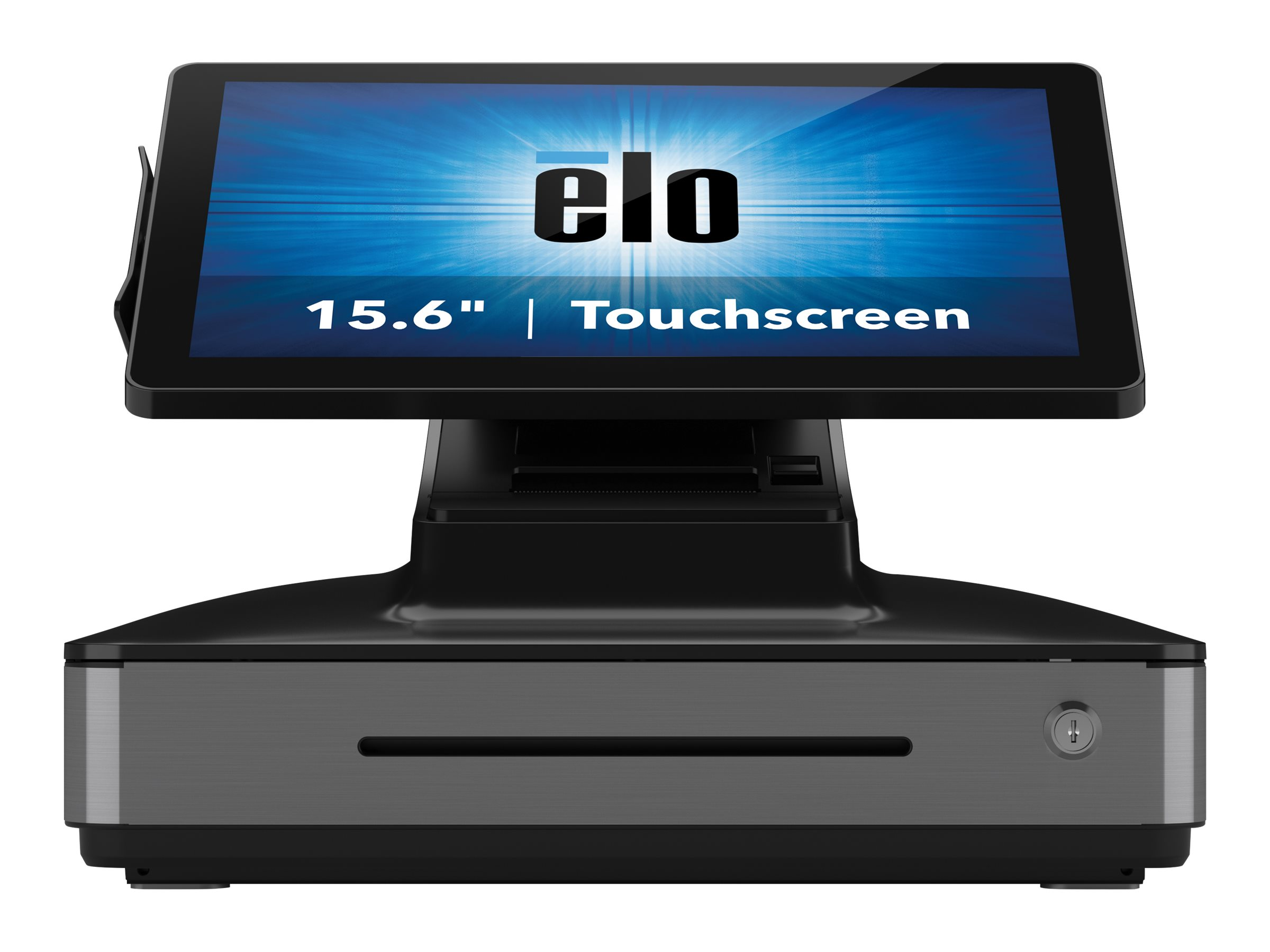 Elo PayPoint Plus, 39,6cm (15,6 Zoll), Projected Capacitive, SSD, MKL, Scanner, Android, schwarz