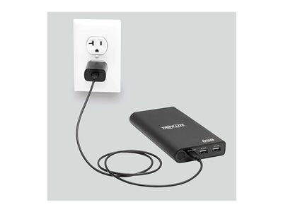 Tripp Lite Portable Charger - 2x USB-A, USB-C with PD Charging, 20,100mAh Power Bank, Lithium-Ion, USB-IF, Black