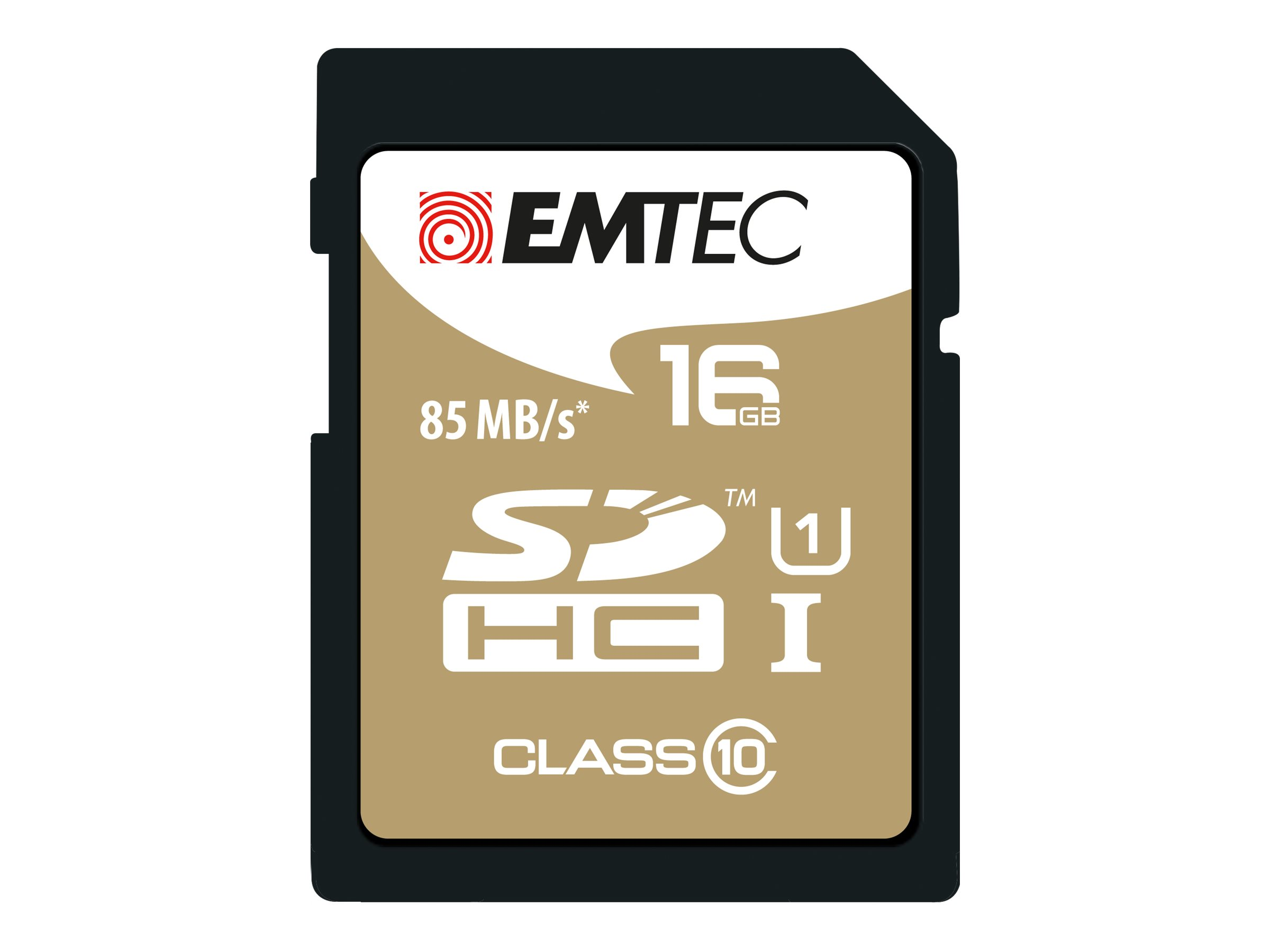 EMTEC Gold+ - Flash-Speicherkarte - 16 GB - Class 10 - SDHC