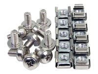 StarTech.com M6 Screws and Cage Nuts - 100 Pack