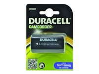 Duracell - Camcorder battery - Li-Ion - 0.75 Ah - black - for Samsung VP-D24, D307, D371, D6050, D907, D963, D975, D99, DC171, DC175, DC575, HMX10, X300