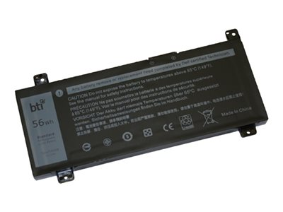 BTI - Notebook battery (equivalent to: Dell PWKWM) - 1 x lithium polymer 4-cell 3684 mAh 56 Wh - for Dell Inspiron 14 Gaming 7466, 14 Gaming 7467