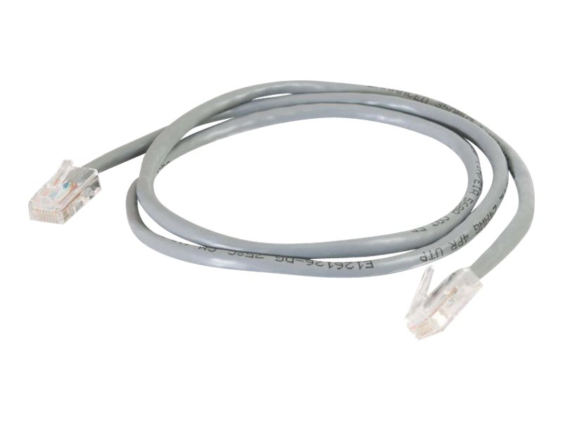 C2G Cat5e Non-Booted Unshielded (UTP) Network Patch Cable - patch cable - 30 cm - gray