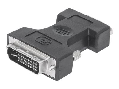 Manhattan DVI-I to VGA HD15 Adapter, Dual Link, Male to Female, Digital Video Adapter, Shielded, Compatible with DVD-D,…