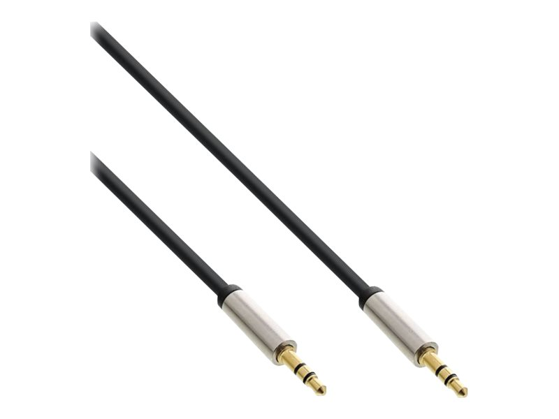 InLine - Audiokabel - Mini-Phone Stereo 3,5 mm (M) bis Mini-Phone Stereo 3,5 mm (M) - 3 m - Schwarz
