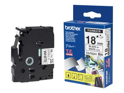 Brother TZFX241 - laminated tape - Roll (1.8 cm x 8 m)