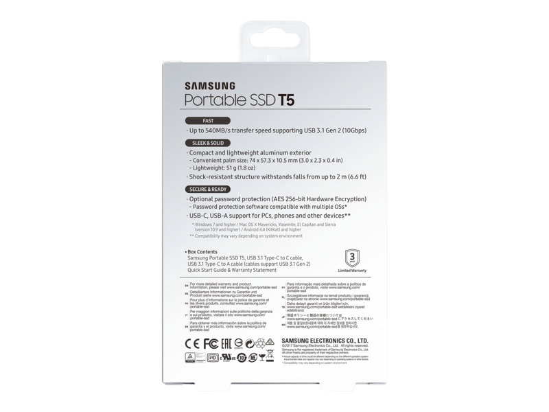 Rent To Own Samsung T5 1tb External Usb Type C Portable Solid