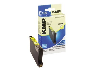 KMP E100 - 8 ml - Gelb - Tintenpatrone (Alternative zu: Epson T0614) - für Epson Stylus D68 Photo Edition, D88 Photo Edition, DX3800, DX3850, DX4200, DX4800, DX4850
