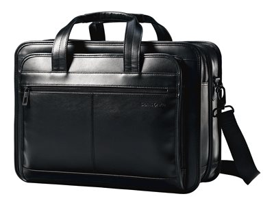 Samsonite Leather Expandable Business Case Notebook carrying case 15.6INCH black