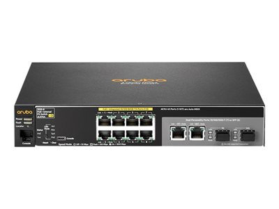 HPE Aruba 2530-8-PoE+ Internal Power Supply - switch - 8 ports - managed -  rack-mountable
