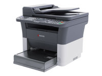 Kyocera FS-1325MFP - Multifunction printer - B/W - laser - 216 x 356 mm (original) - A4/Legal (media) - up to 25 ppm (copying) - up to 25 ppm (printing) - 250 sheets - 33.6 Kbps - USB 2.0, LAN