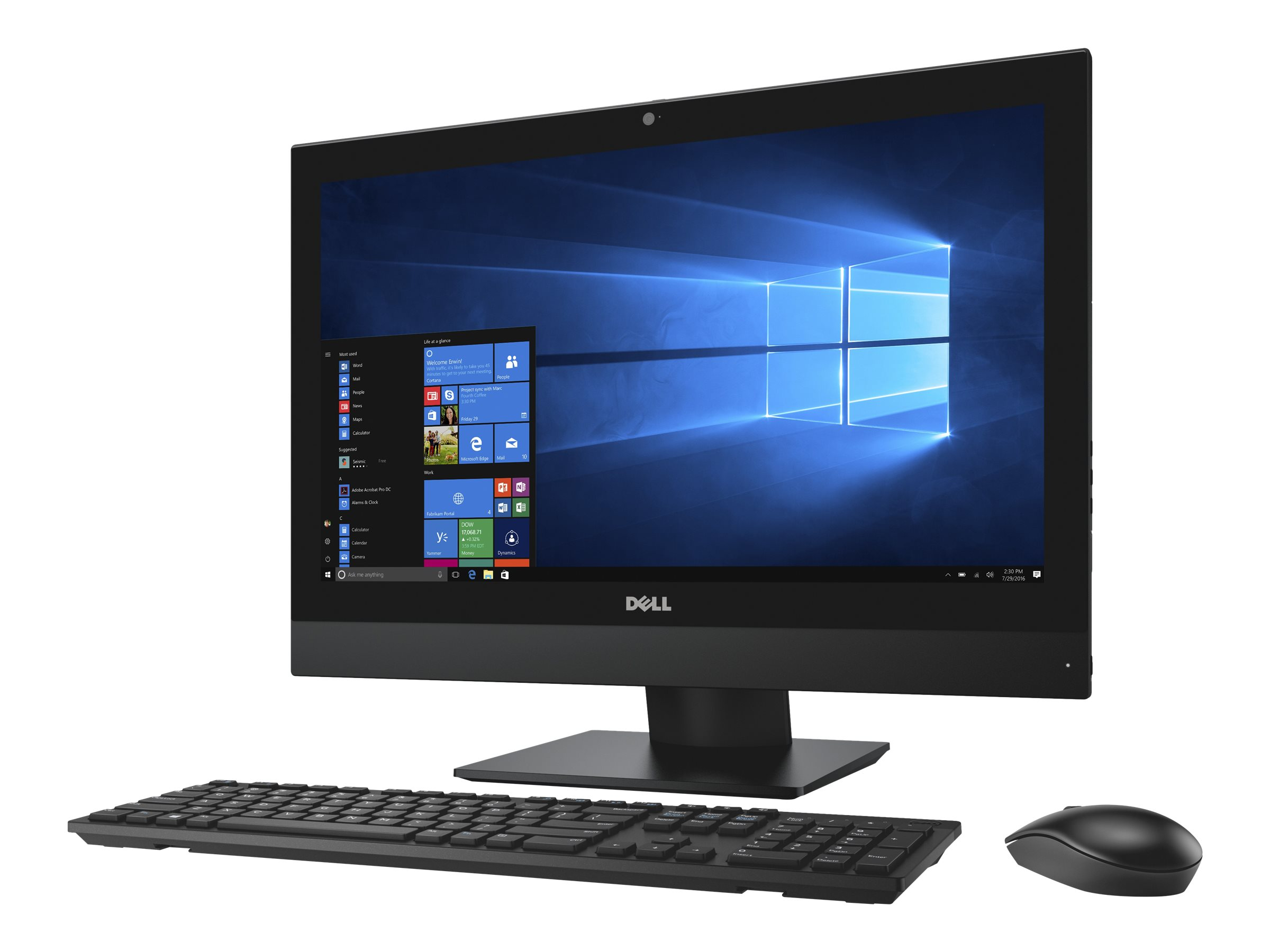 Dell OptiPlex 5250 - All-in-One (Komplettlösung) - 1 x Core i5 7500 / 3.4 GHz - RAM 8 GB - SSD 256 GB - DVD-Writer
