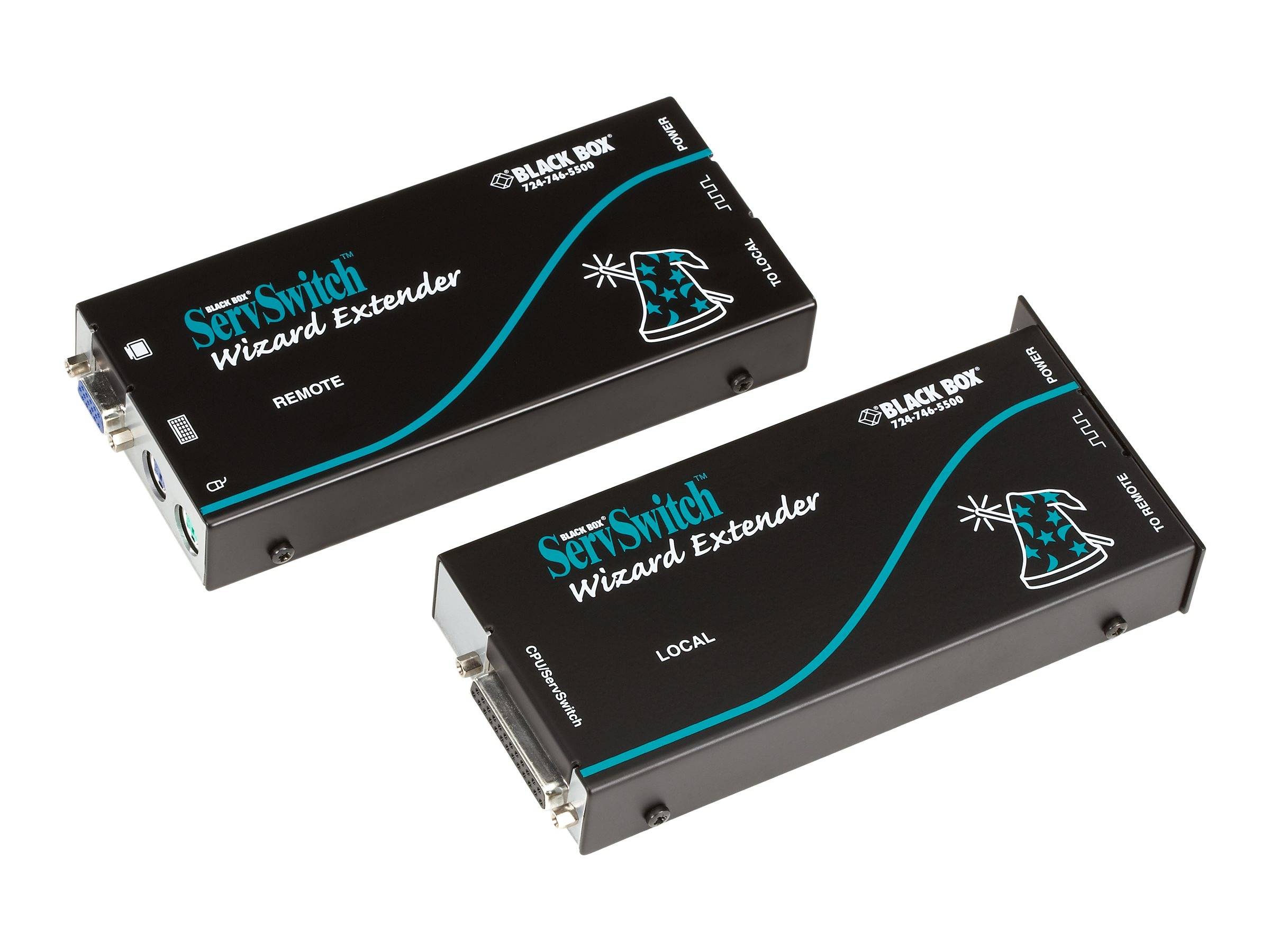 Black Box ServSwitch Wizard Extender Single-Access Serial Kit with Skew Compensation - KVM extender