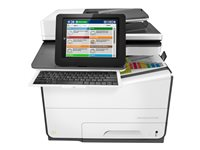 HP PageWide Managed Color MFP E58650dn - Imprimante multifonctions - couleur - large éventail de page - 216 x 356 mm (original) - A4/Legal (support) - jusqu'à 50 ppm (impression) - 550 feuilles - USB 2.0, Gigabit LAN, hôte USB 2.0, hôte USB 2.0 (interne)